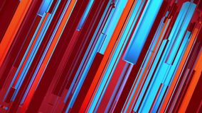 Abstract red, orange and blue lines background stock video footage