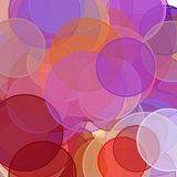 Abstract red orange brown violet circles illustration background. Abstract minimalist red orange brown violet illustration with circles useful as a background royalty free illustration