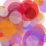 Abstract red orange brown violet circles illustration background. Abstract minimalist red orange brown violet illustration with circles useful as a background vector illustration