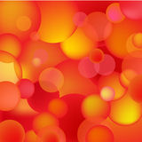 Abstract red and orange bubbles Royalty Free Stock Images