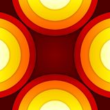 Abstract red and orange circles vector background Royalty Free Stock Photography