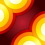 Abstract red and orange circles vector background Royalty Free Stock Images