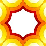 Abstract red and orange circles vector background Royalty Free Stock Photos