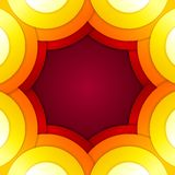Abstract red and orange circles vector background Stock Image