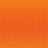 Abstract red and orange color of circle shapes halftone pattern. Texture pixel Curved mosaic dotted background. Pop art template. Vector illustration vector illustration