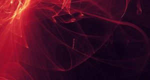 Abstract red, orange, gold light glows, beams, shapes on dark background Royalty Free Stock Images