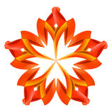 Abstract red and orange pattern. Abstract red and orange design element made of paper or ribbons Stock Photo
