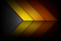 Abstract red orange yellow background dark and black carbon. Fiber with curve and layered overlap element vector illustration eps10 royalty free illustration