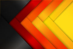 Abstract red orange yellow background dark and layered overlap. Element vector illustration eps10 Stock Image