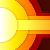 Abstract red, orange and yellow paper round shapes Stock Images