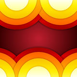 Abstract red, orange and yellow round shapes backg Royalty Free Stock Images