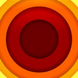 Abstract red, orange and yellow round shapes backg Royalty Free Stock Image