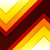 Abstract red, orange and yellow triangle shapes Royalty Free Stock Photos