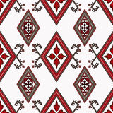 Abstract red ornament seamless pattern Royalty Free Stock Photos