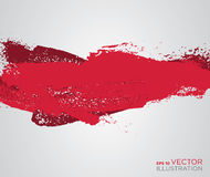 Abstract red paint artistic brush background. Vector vector illustration