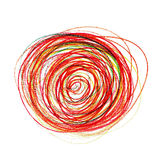Abstract red painting colored circles texture Stock Images
