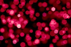 Abstract red and pink bokeh background on black, light effect, h. Abstract background spot bokeh bright holiday Christmas circle color decoration defocused vector illustration