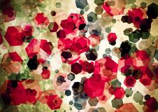 Abstract red pink green color bokeh wallpaper royalty free stock image