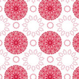 Abstract red Pink seamless pattern. Retro geometric background stock illustration