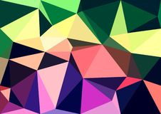 Abstract red pink yellow green purple rainbow color shiny low poly bokeh wallpaper Stock Photos