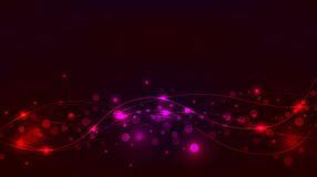 Abstract red and pinkbackground with sparkles and waves Stock Images