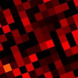 Abstract Red Pixels Mosaic Background Design - Web Royalty Free Stock Images