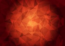 Banner with a polygonal pattern on a red background. royalty free illustration