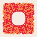 Abstract Red polygonal trigonal low poly vector frame. Royalty Free Stock Images