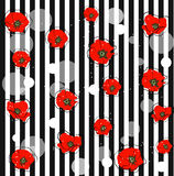 Abstract red poppy flowers Stock Photo