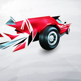 Abstract red racing car painted Royalty Free Stock Photography