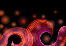 Abstract red rainbow waves Stock Images
