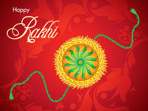 Abstract red raksha bandhan background. Vector illustration Stock Photography