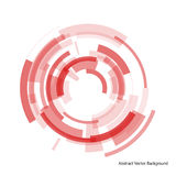 Abstract red rings Stock Photography