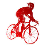 Abstract red road biker Stock Photo