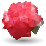 Abstract red rose in origami style on white background. Vector illustration of  red rose in origami style on white background Royalty Free Stock Image