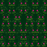 Abstract red rose seamless pattern Stock Photography