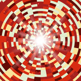 Abstract red round mosaic background. Vector illustration Royalty Free Stock Photo