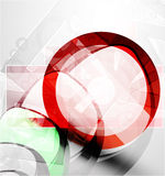 Abstract red round shape. Vector technology Stock Photography