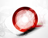 Abstract red round shape. Vector technology Royalty Free Stock Images