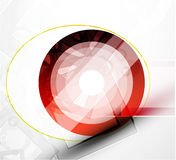 Abstract red round shape. Vector technology Royalty Free Stock Photo