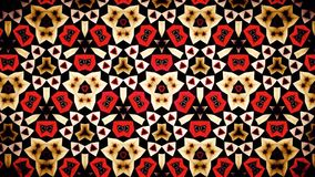 Abstract Red Ruby Fire flame  mirage bokeh pattern background. Stock Photo