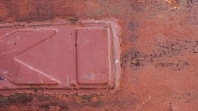 The abstract red and rusty metal texture stock photography