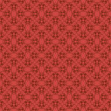 Abstract red seamless hand-drawn pattern. Royalty Free Stock Photography