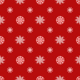 Abstract red seamless snowflake pattern eps 10 Royalty Free Stock Photography
