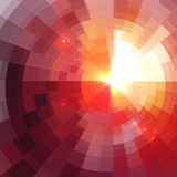 Abstract red shining circle tunnel background Royalty Free Stock Photo