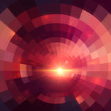 Abstract red shining circle tunnel background Royalty Free Stock Photos