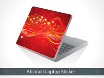 Abstract red shiny christmas sticker for laptop Royalty Free Stock Photos