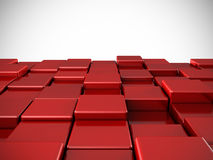 Abstract red shiny cubes background Royalty Free Stock Images