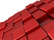 Abstract red shiny cubes background. 3d vector illustration