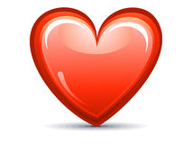 Abstract red shiny heart icon Royalty Free Stock Photography